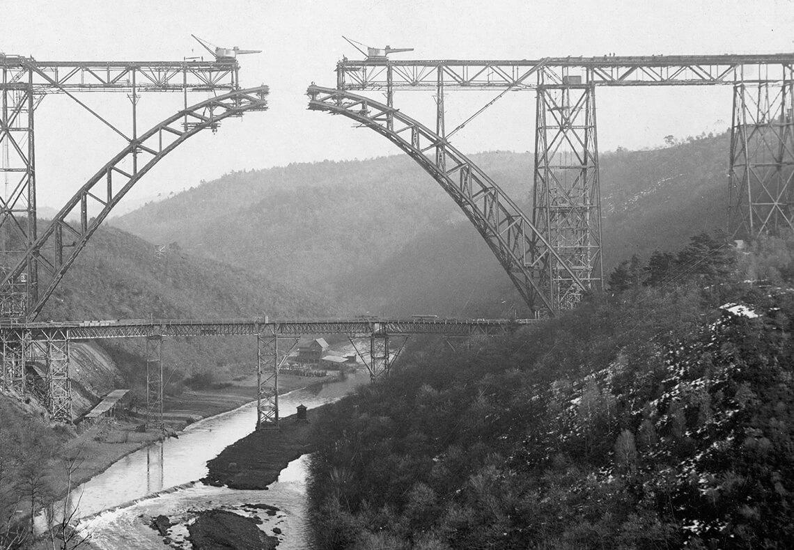 Ruhrtalbrücke im Bau